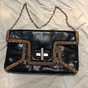 Gianni Bini Leather Foldover Convertible Clutch